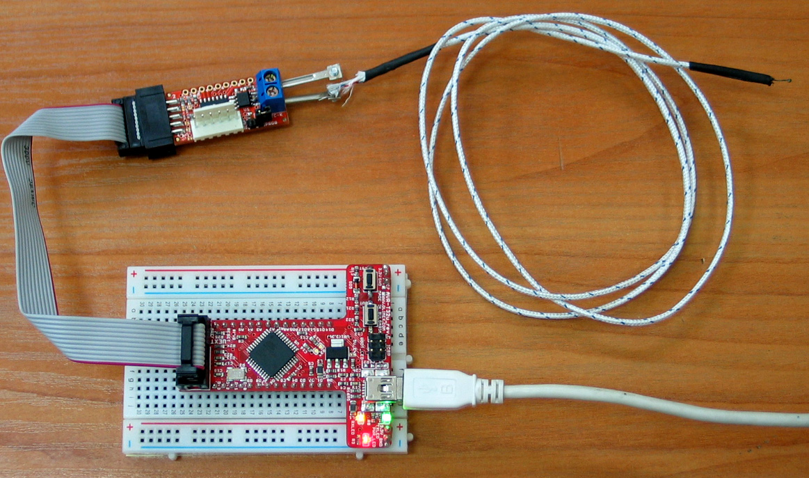 Temperature Olimex Circuit For Measuring Using A Thermistor And Arduino Image
