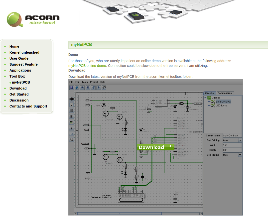 myNetPCB – simple Open Source Schematic drawing program – Made in ...