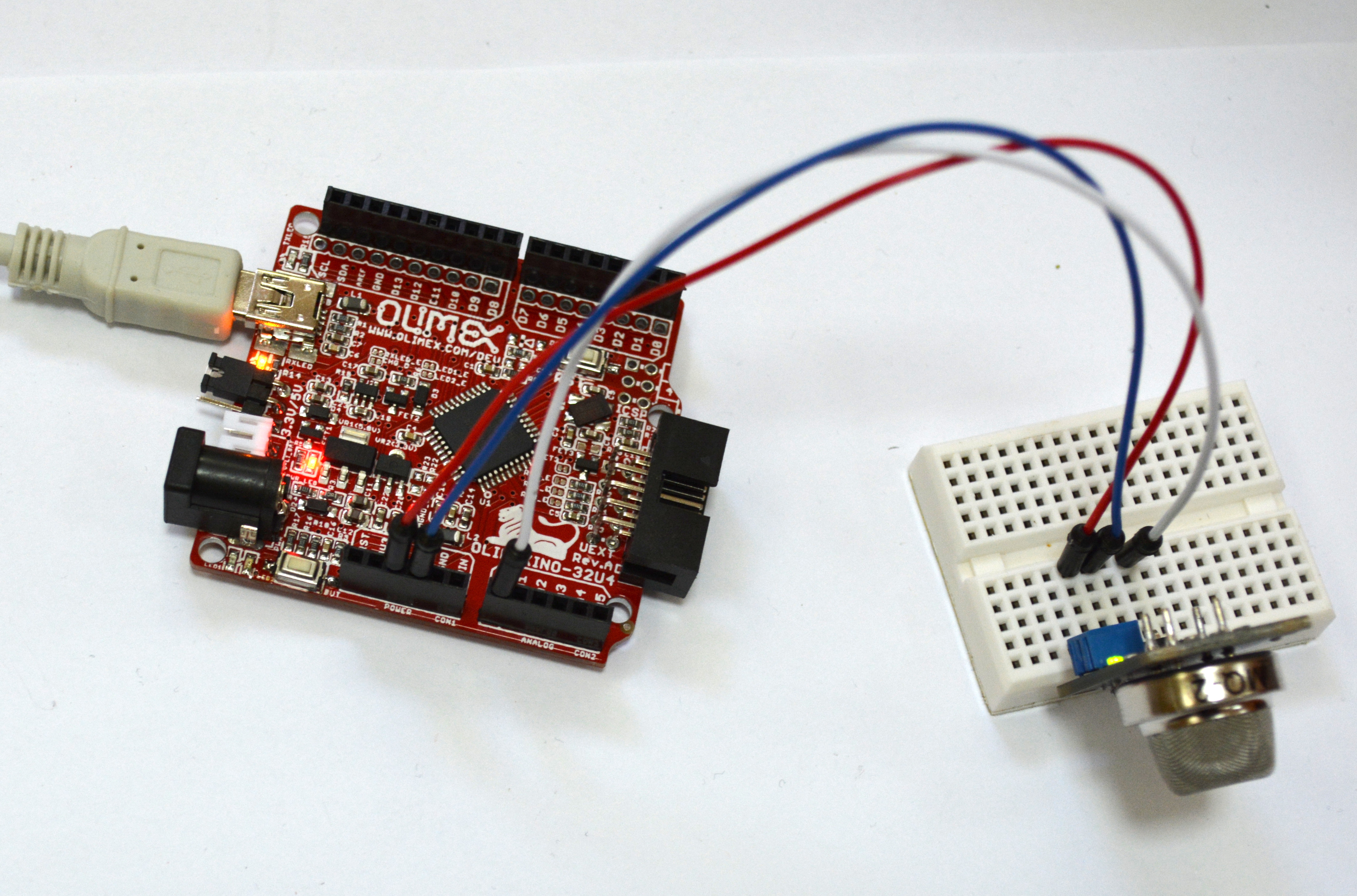 Experimenting with Gas Sensors and Arduino | olimex