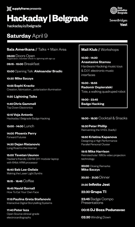 Hackaday Belgrade Schedule4