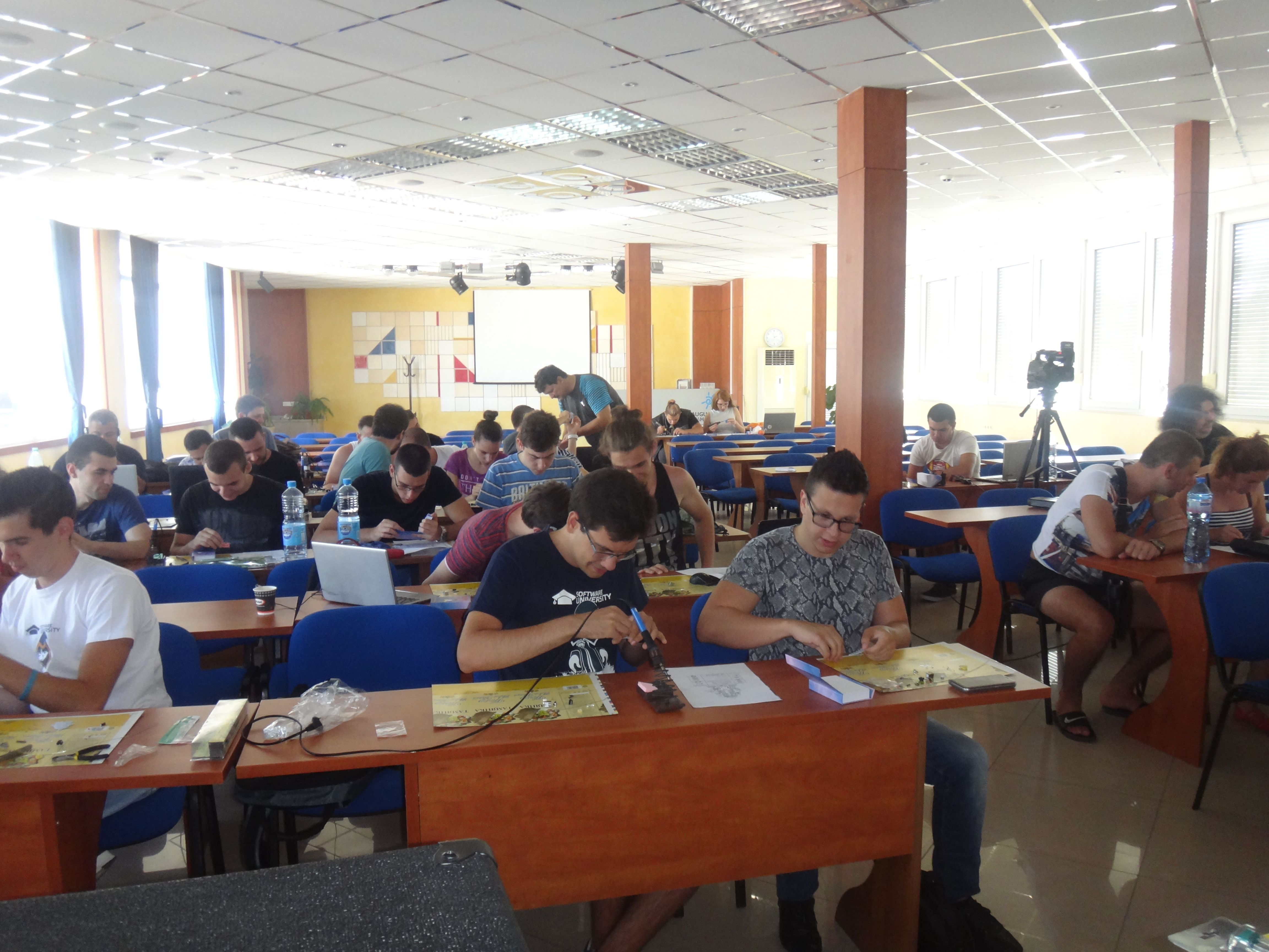 SoftUni camp Soldering workshop – 17th of August in Hisarrya