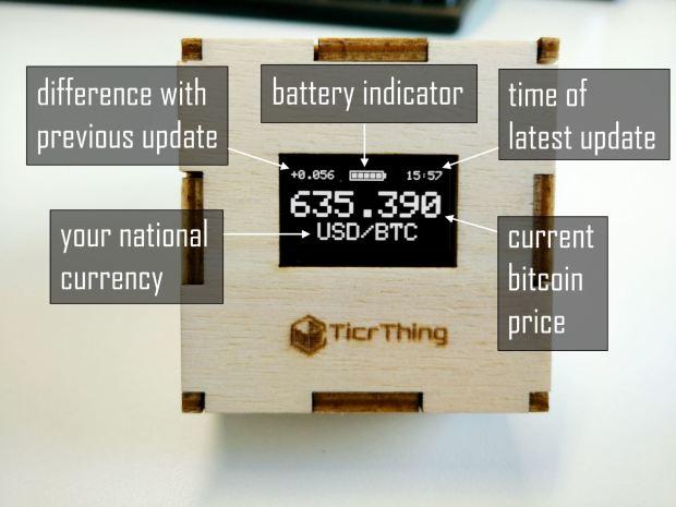 Bitcoin price tracker with MOD-WIFI-ESP8266-DEV on Indiegogo