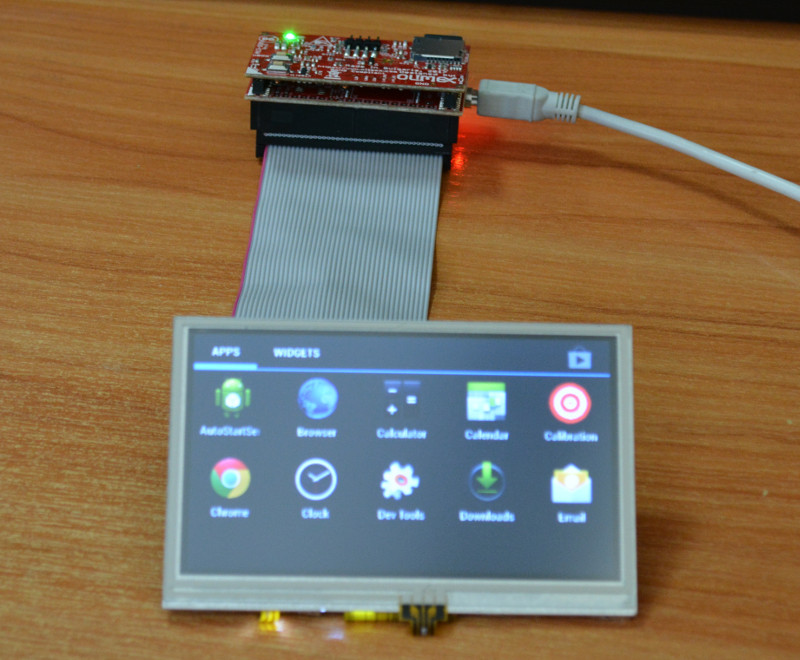 A13-SOM-512 Android image for 4.3″ LCD with touchscreen released