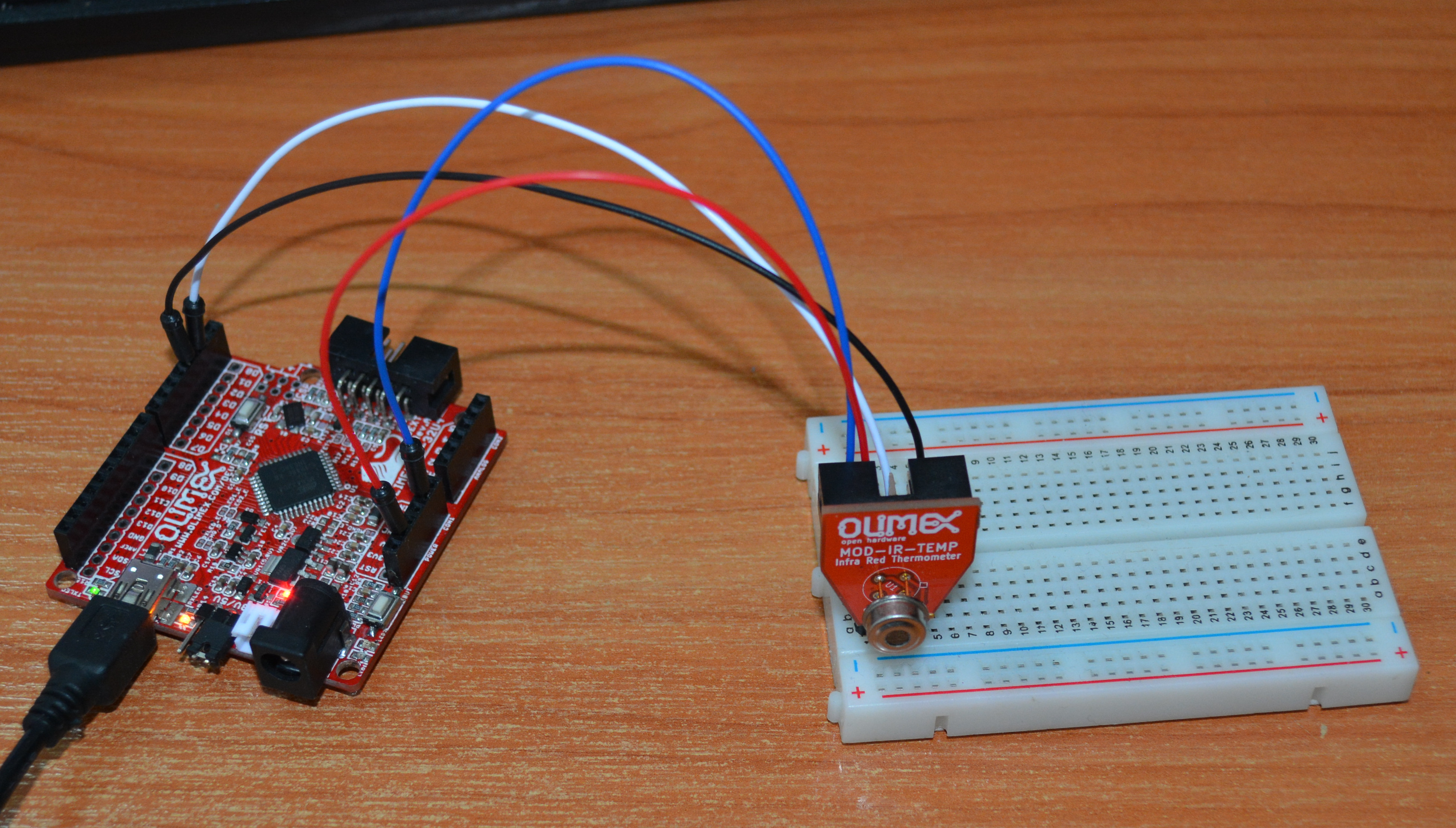 Is it hot or not? Contactless preciese Infra Red temperature measurement with Open Source Hardware MOD-IR-TEMP