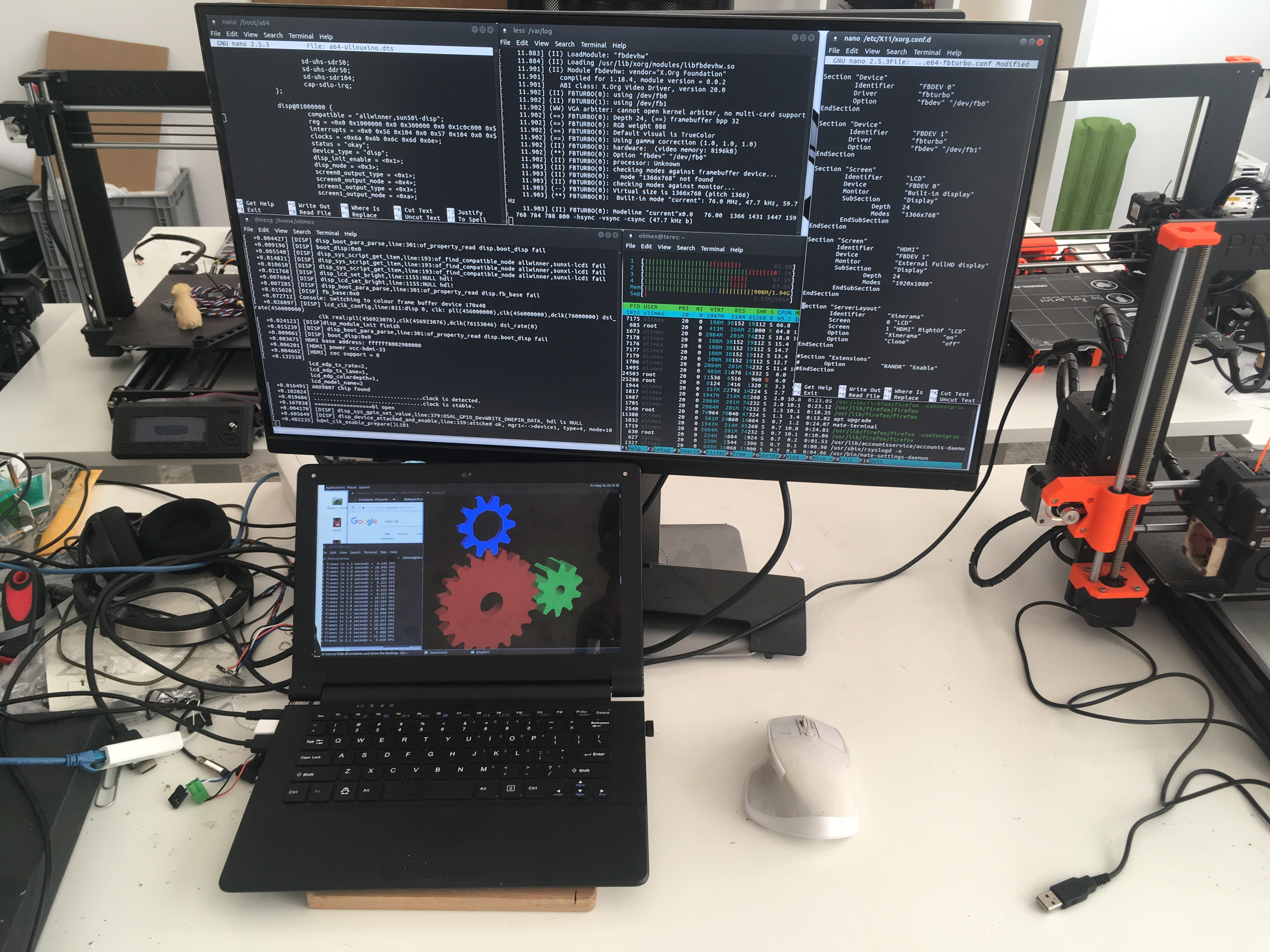 TERES-I has patch and can work with both LCD and HDMI together
