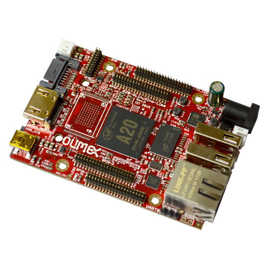 A20-OLinuXino-LIME Revision H is now in stock. The OSHW Linux computer now support eMMC and can be produced with industrial grade temperature -40+85C
