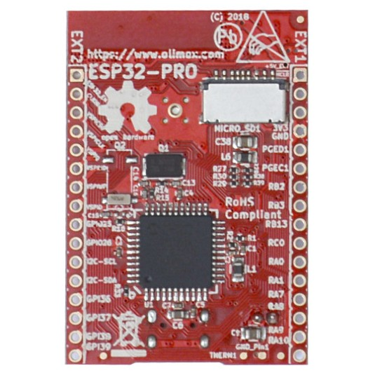 ESP32-PRO IoT OSHW board with 4MB RAM, 4MB Flash, co