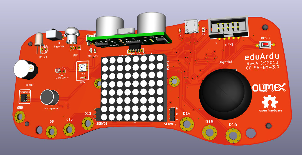eduArdu is new Open Source Hardware educational board targeting kid's digital education
