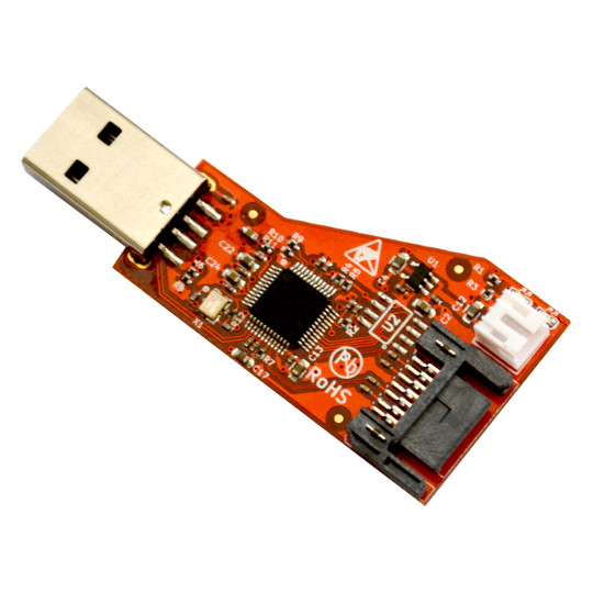 New Open Source Hardware board adds SATA drive connectivity to any computer with USB host