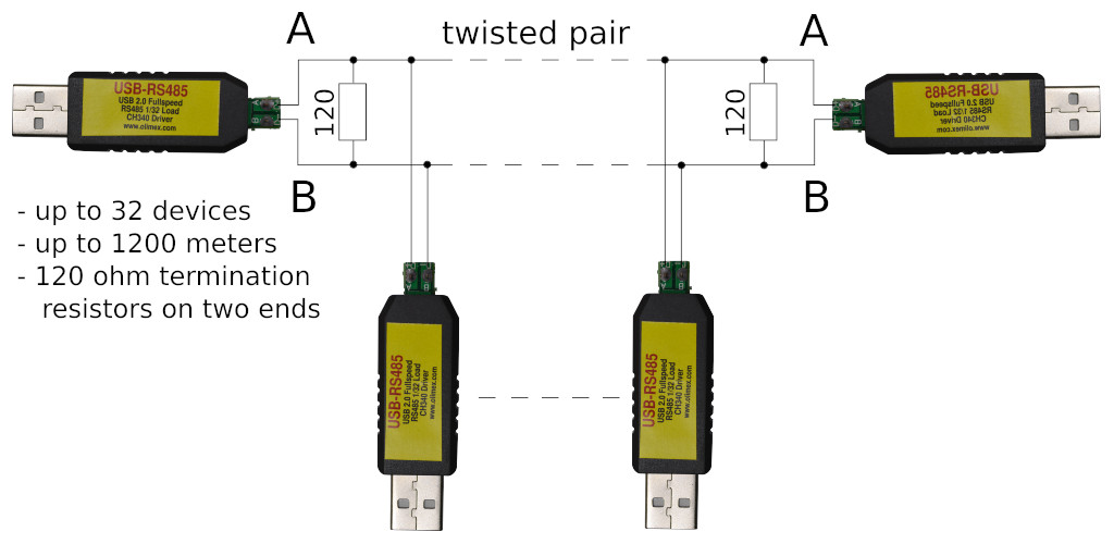 USB-RS485-wiring