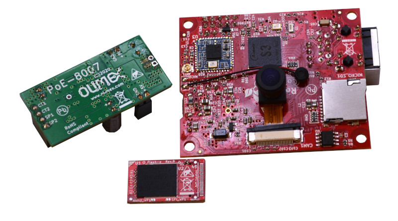 Open Source Hardware S3-OLinuXino update – The new board targeting industrial vision applications is now with mainline Linux support
